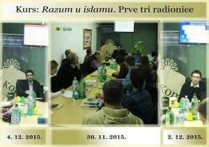 Kurs Razum u islamu. Prve tri radionice